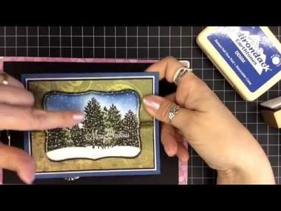 Card Tutorial #7 - Silent Snow - Stampscapes