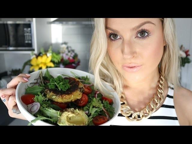 Cooking ♡ Kumara Cake Salad! ♡ Shaaanxo
