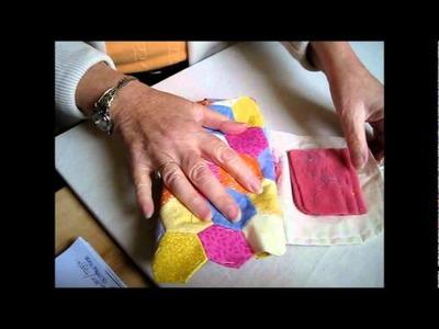 E. Paper Piecing:  Patching bag. Part 1.