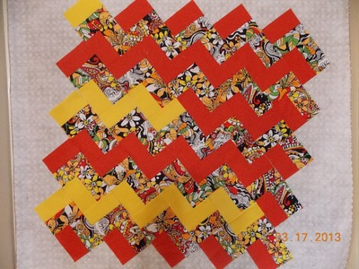 Episode 19: Redo.  How to make a zig zag zing quilt without piecing triangles!