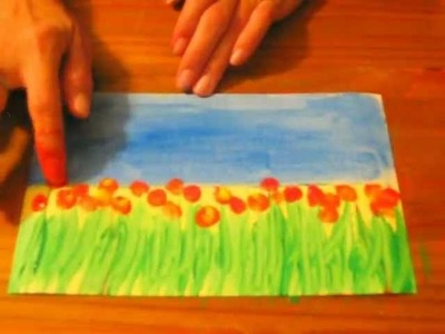 Field of Flowers: A Preschool.Early Elementary Painting Lesson