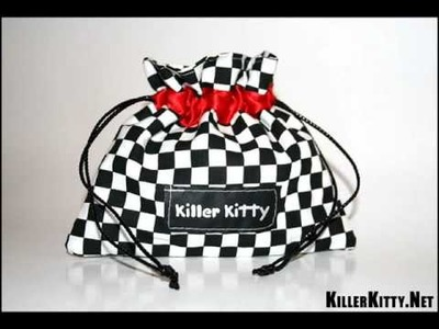 Handmade Alternative Drawstring Bags & Misfits Bag By KillerKitty.Net