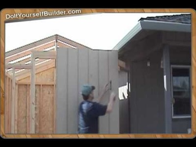 """How The Pros Build A Shed"" Sample- 3 of 6 ""Installing Siding"""