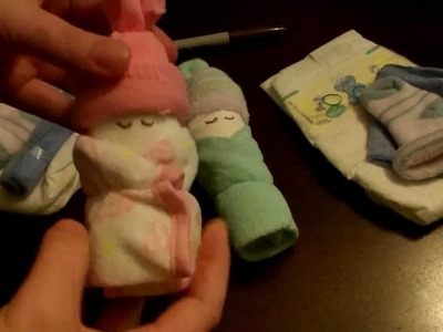How to make a Miniature Diaper Baby (for baby shower)