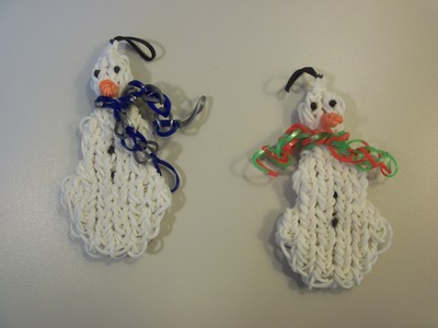How To Make A Rainbow Loom Snowman With Three Snowballs