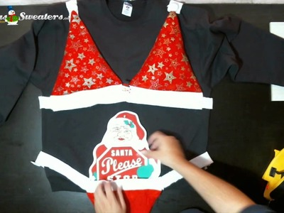 How to Make a Santa Hat Bikini Bottom
