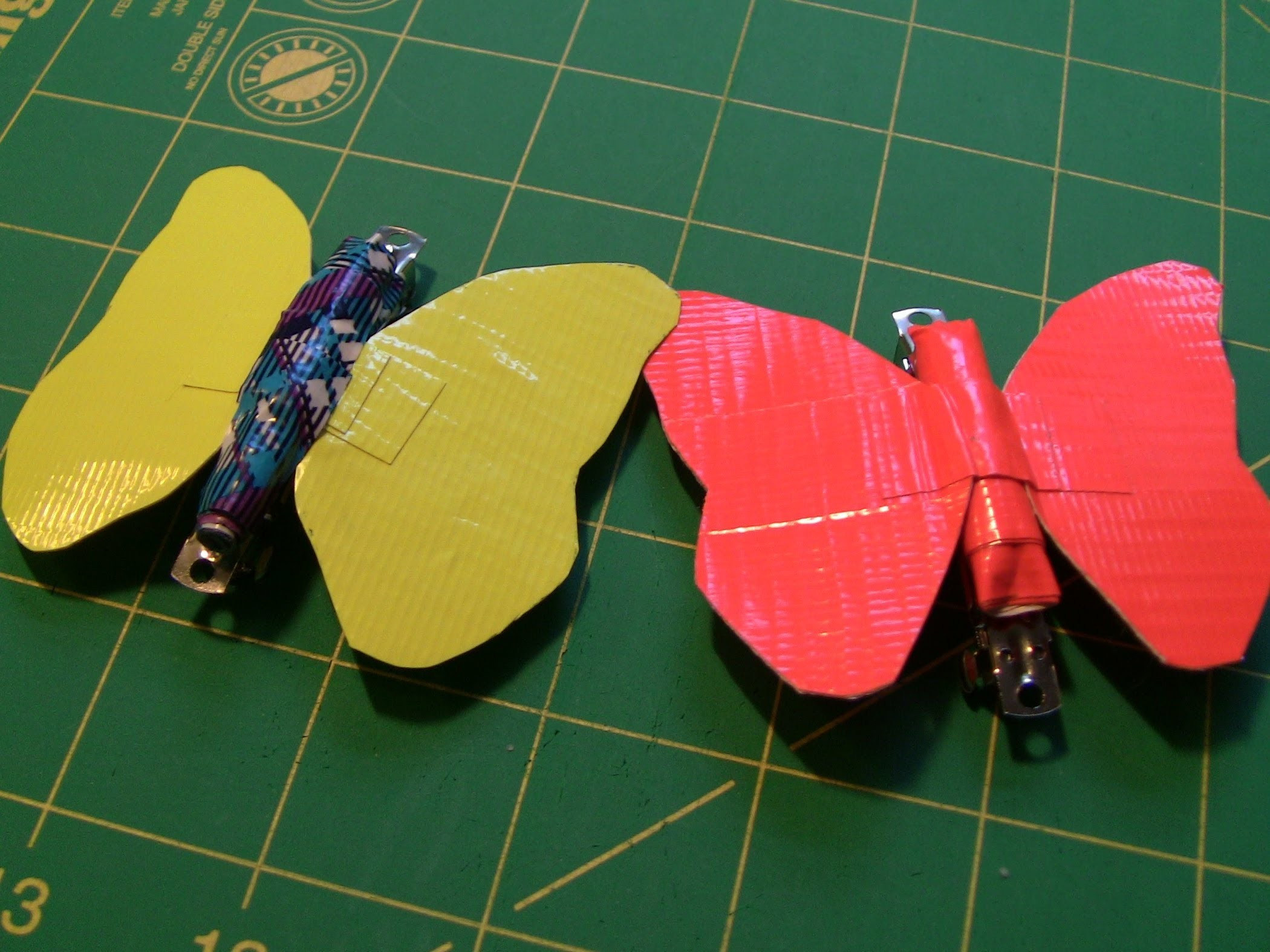 How to make Duct tape Butterfly hair clips!