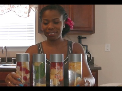 How to Make Fruit Infused Voss Water - So Pretty!