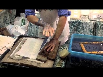 How to make paper using your old jeans