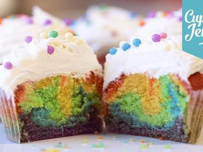 How to make Rainbow Cupcakes   Cupcake Jemma