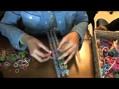 How to make the olympic rainbow loom bracelet
