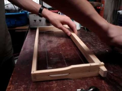 How to wire a bee hive frame, and embed foundation