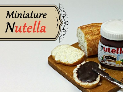 Nutella inspired Miniature - Polymer clay tutorial