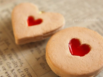 Polymer Clay: Strawberry Jam Filled Valentine's Day Cookie