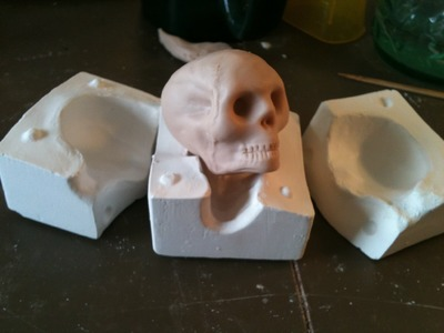 Skull Mold - How to make a Skeletal Ghost Ornament-Doll for Halloween