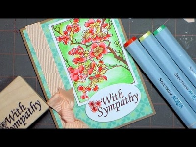Stamped Sympathy Card and Giveaway!