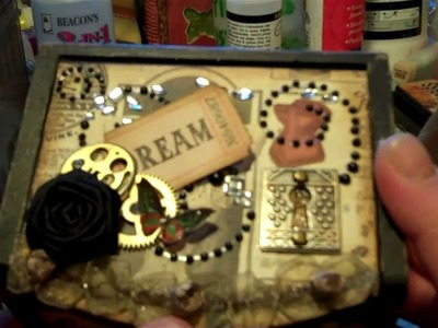 Altered box using Steampunk Deputante by Graphic 45