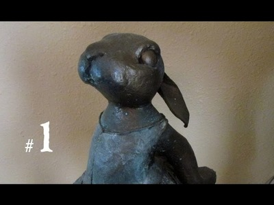 Ballerina Bunny - Paper Mache Clay, Part 1