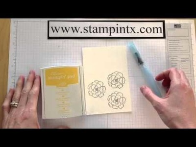 Basic Water Coloring on Cards Part 2 - Aqua Painters