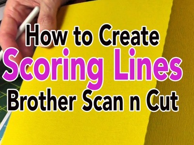 Brother Scan n Cut: Creating Score Lines Using the Path Tool - Canvas Tutorial