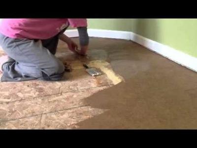 Brown Paper bag floor - laying paper