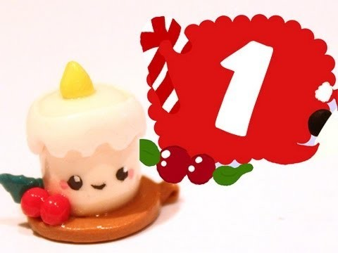 ❤ Candle! Kawaii Christmas 1 -Polymer Clay tutorial
