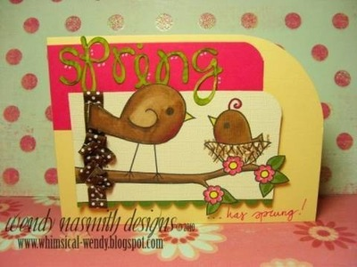 Card Tutorial - Spring. has sprung!