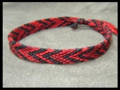 ► Friendship Bracelet Tutorial - Beginner - The Chevron (Double Chevron Base)