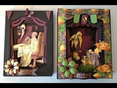 G45 An Eerie tale Xcut Theater shadow box card tutorial Norwegian version