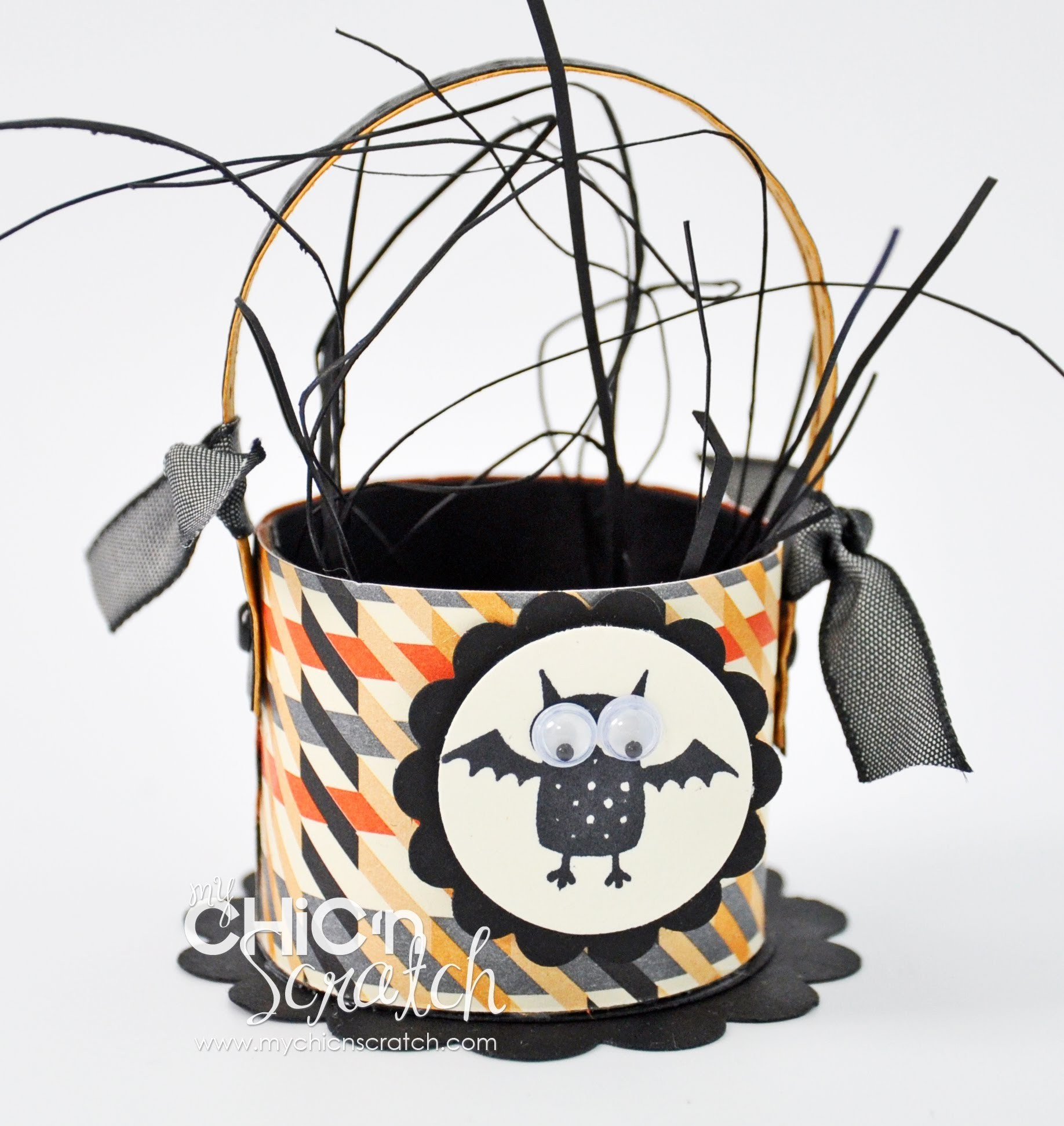 Halloween Toilet Paper Roll Basket