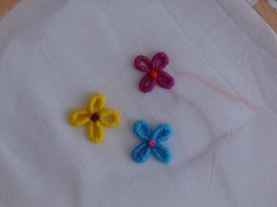 Hand Embroidery: Lazy Daisy & Bullion Knot Stitch