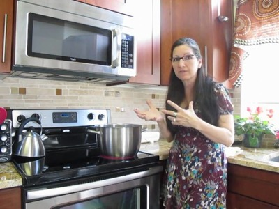 How to kettle dye or tie dye leicester wool on the stove