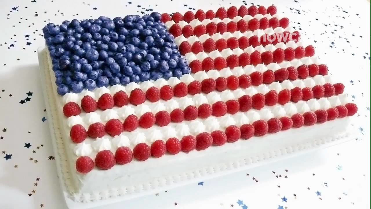 How to Make a Flag Cake