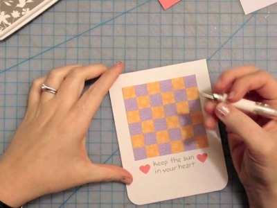 How to make a patchwork paper card { Lawn Fawn }