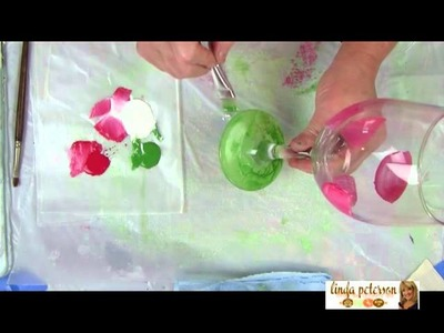 How to Paint a Watermelon Themed Glass Goblet by Linda Peterson