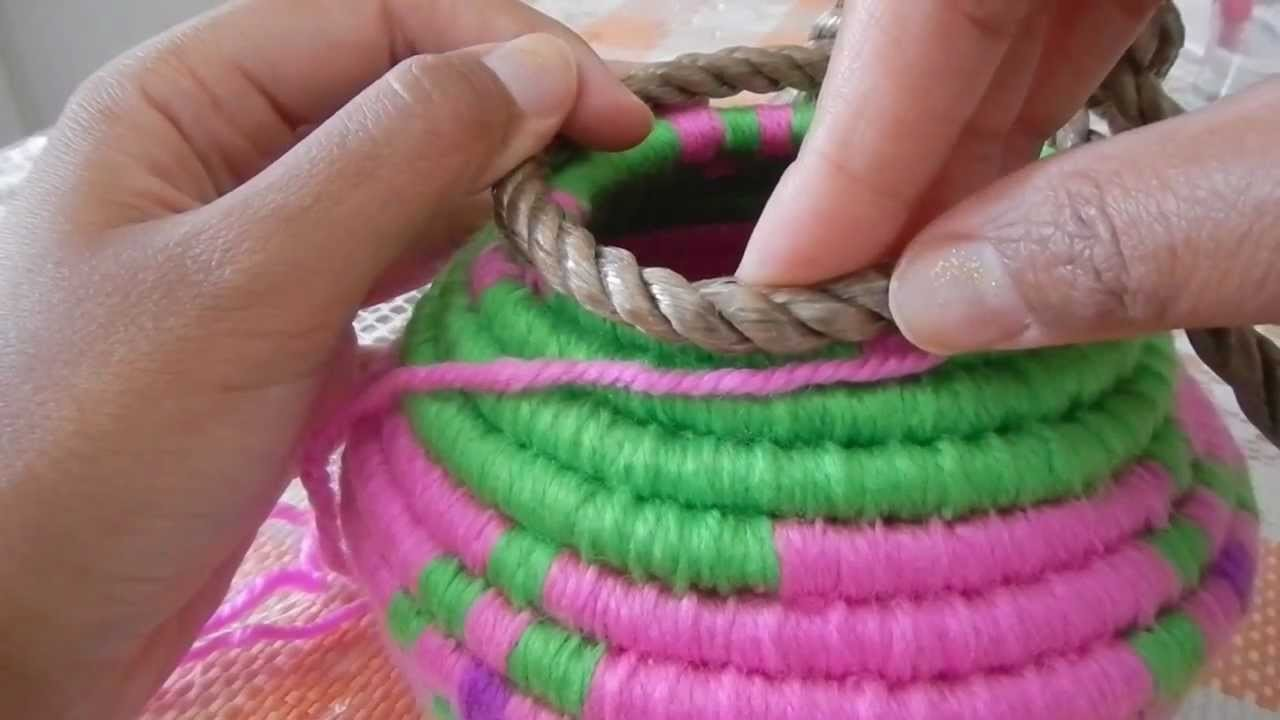 Indian Basket Weaving Part 4 curving inward  @catrionaakacat