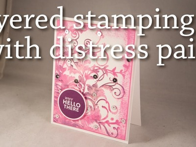 Layered Stamping with Distress Paint