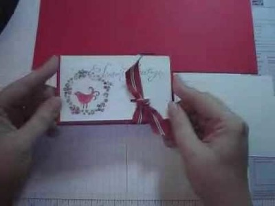 Making a Pop-up Gift Card Holder