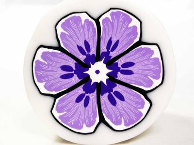 Millefiori cane Purple Flower (polymer clay tutorial)