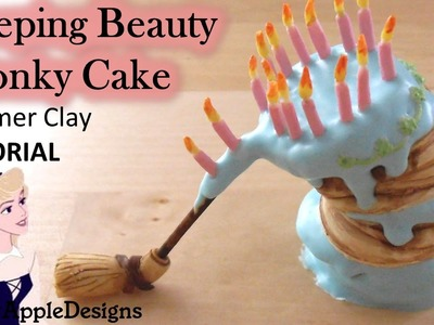 Miniature Disney's Sleeping Beauty Aurora Wonky Cake - Polymer Clay TUTORIAL
