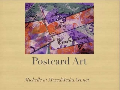 Mixed Media Postcard Art
