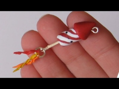 New Years Firework Charm: Polymer Clay Tutorial.