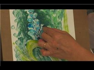 Oil Pastel Techniques : How to Use Oil Pastels for Monotypes