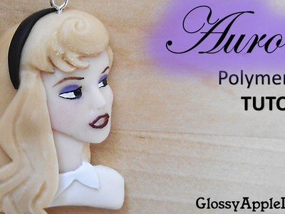 Polymer Clay Disney Sleeping Beauty Aurora Charm.Pendant Tutorial. La Bella Addormentata Nel Bosco