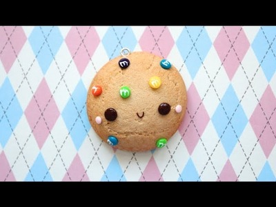 Polymer Clay M&M Cookie Mirror Charm Tutorial