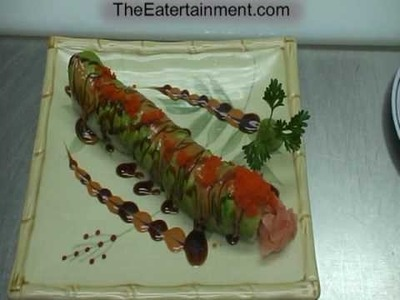 SUSHI CATERPILLAR ROLL  Asian Chow @AsianChow.com The Authentic Asian Eatertainment Experience