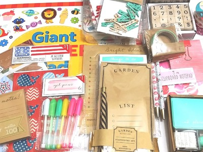 Target Dollar Spot Haul for planner supplies (May)