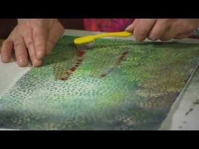 Textile art using velvet with textile artist Angie Hughes