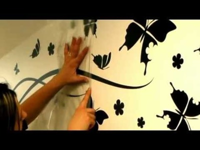 Wall decals ambiance-live.com - How to apply a sticker with transfer film