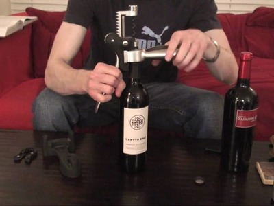 #7 How to Open a Bottle of Wine with a lever style corkscrew - SuppleWine.com
